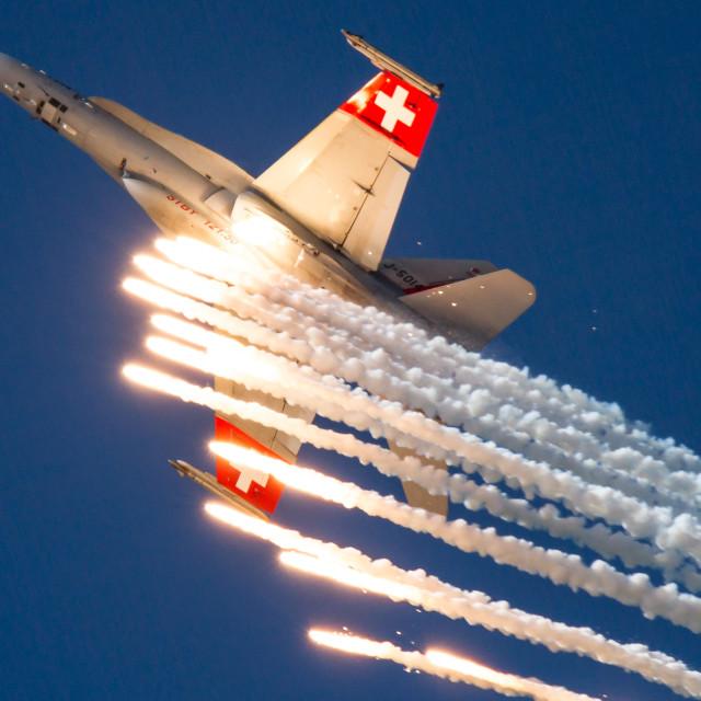 """F/A-18 Hornet Swiss"" stock image"