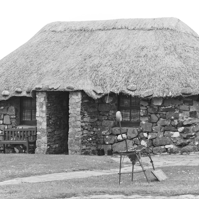 """""""Crofters cottage"""" stock image"""