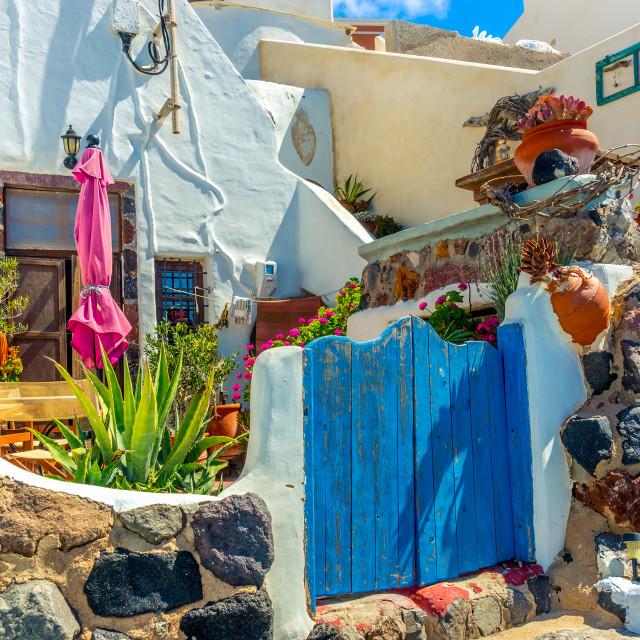 """Architecture on the island of Santorini"" stock image"