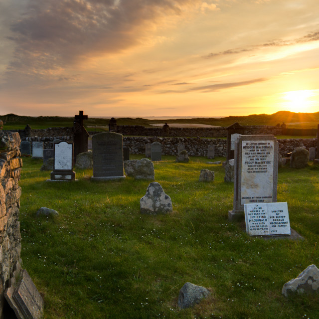 """Medieval burial ground in Nunton"" stock image"