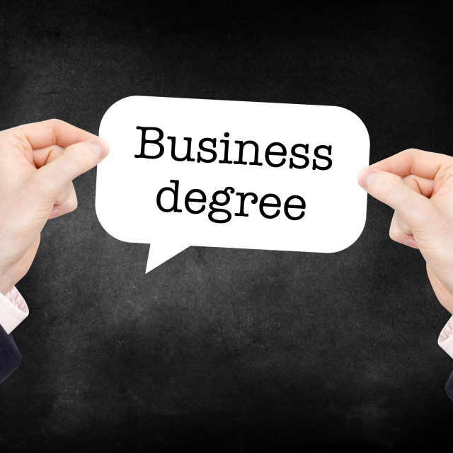 """""""Business Degree"""" stock image"""