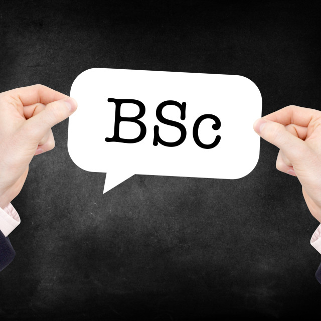 """""""BSc"""" stock image"""