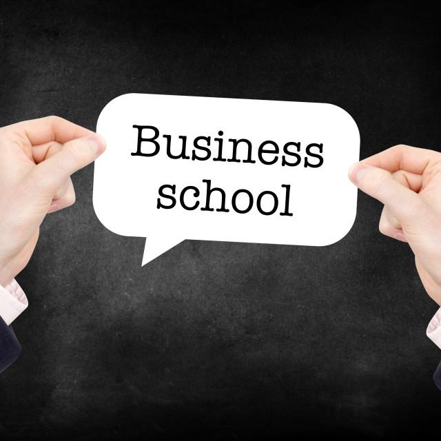"""Business School"" stock image"