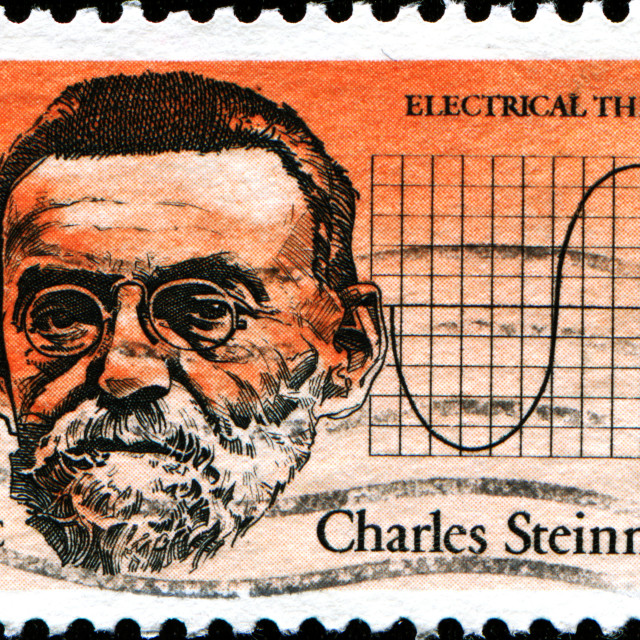 """""""Charles Steinmetz for his electrical theories"""" stock image"""