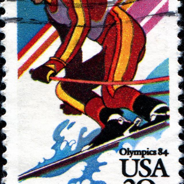"""Olympics 84"" stock image"