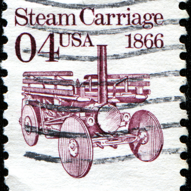 """Steame Carriage 1866"" stock image"