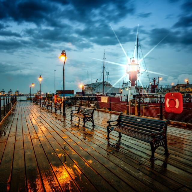 """Halfpenny Pier Twilight"" stock image"