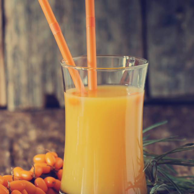 """Sea buckthorn soft drink"" stock image"