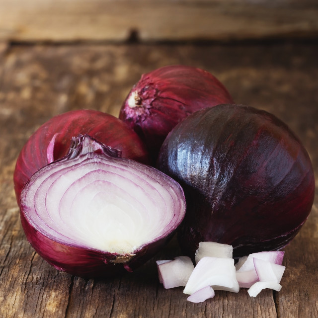 """Bulbs of red onion"" stock image"