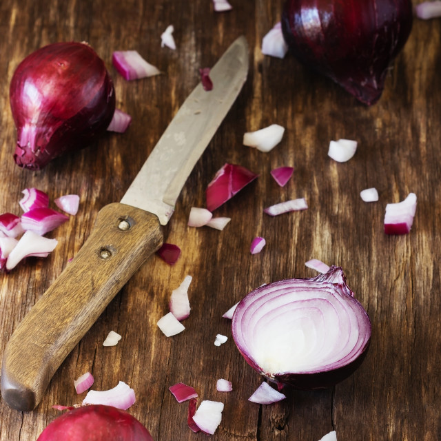 """Sliced red onion"" stock image"