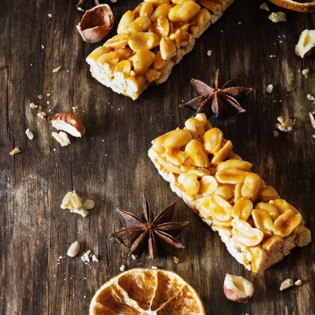 """""""Candies with peanuts and caramel"""" stock image"""