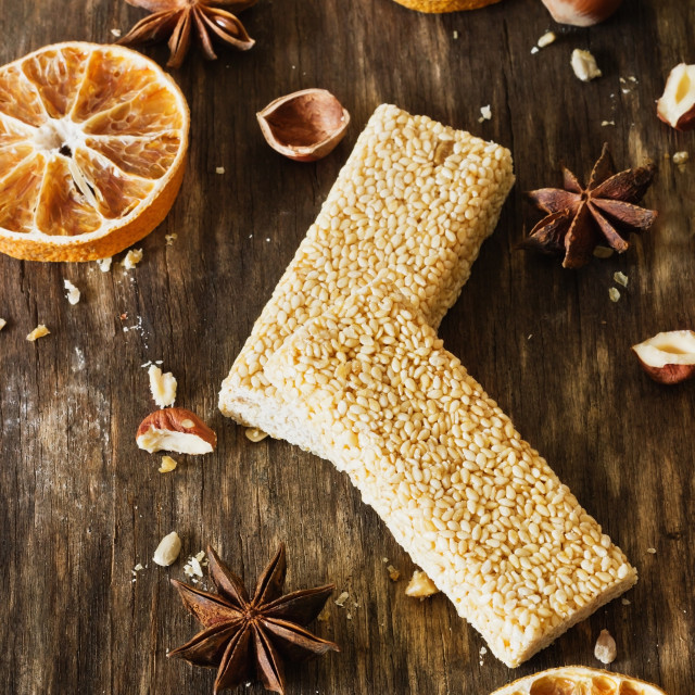 """""""Candy with sesame and caramel"""" stock image"""