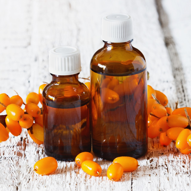 """Sea buckthorn oil"" stock image"