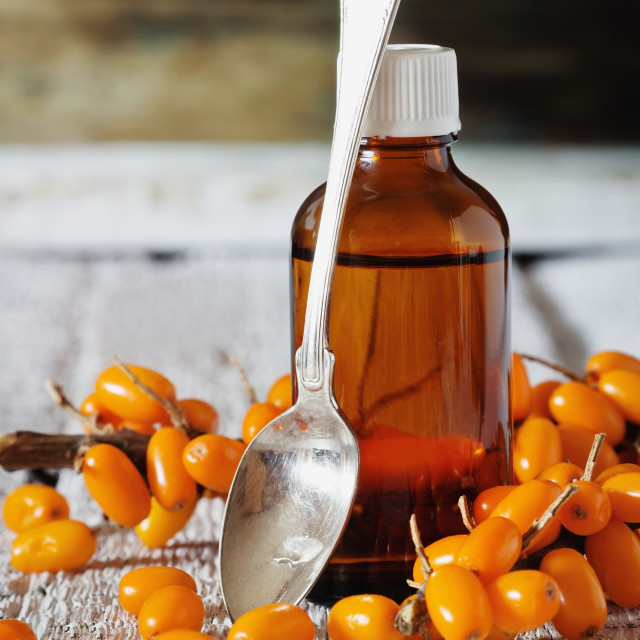 """Sea buckthorn oil"" stock image"