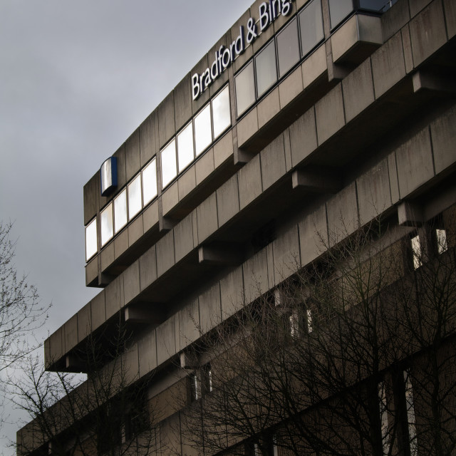 """Bradford & Bingley Buiding Society."" stock image"