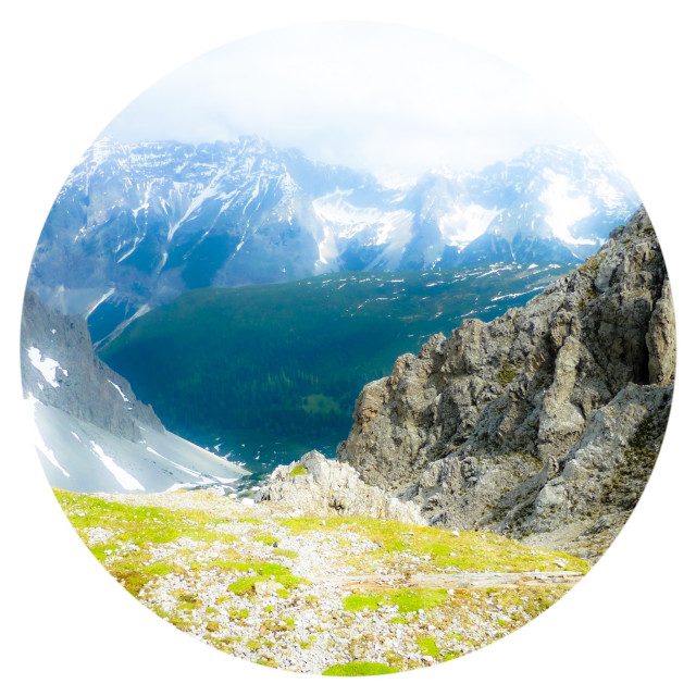 """Dreamy picture of Innsbruck mountains"" stock image"
