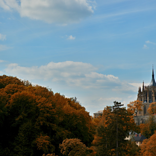 """Cathedral in Kutna Hora - protected by UNESCO"" stock image"