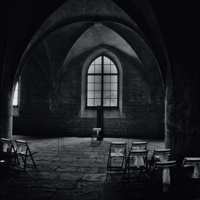 """""""inside chapel in czech republic"""" stock image"""