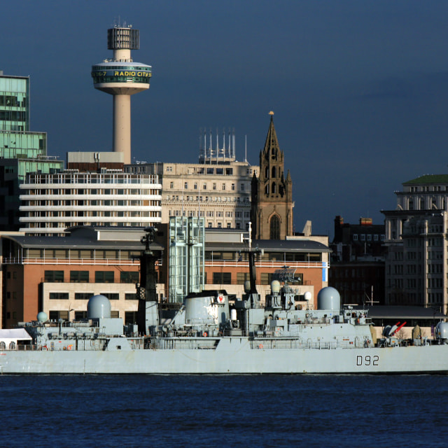 """HMS Liverpool Final Visit To Liverpool"" stock image"