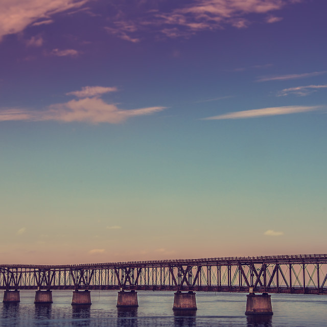 """bahia honda bridge"" stock image"