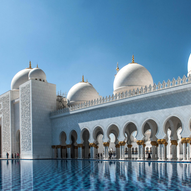"""Grand Mosque_2 Abu Dhabi"" stock image"