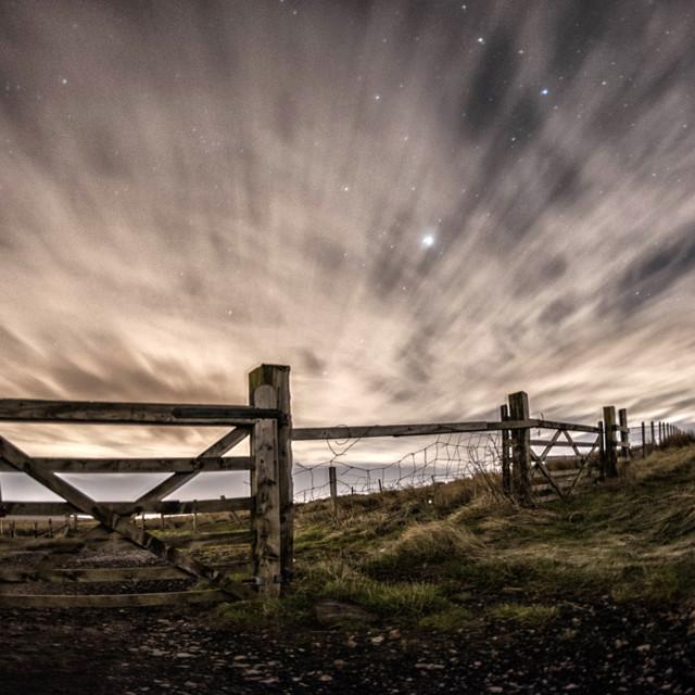 """Night walk"" stock image"