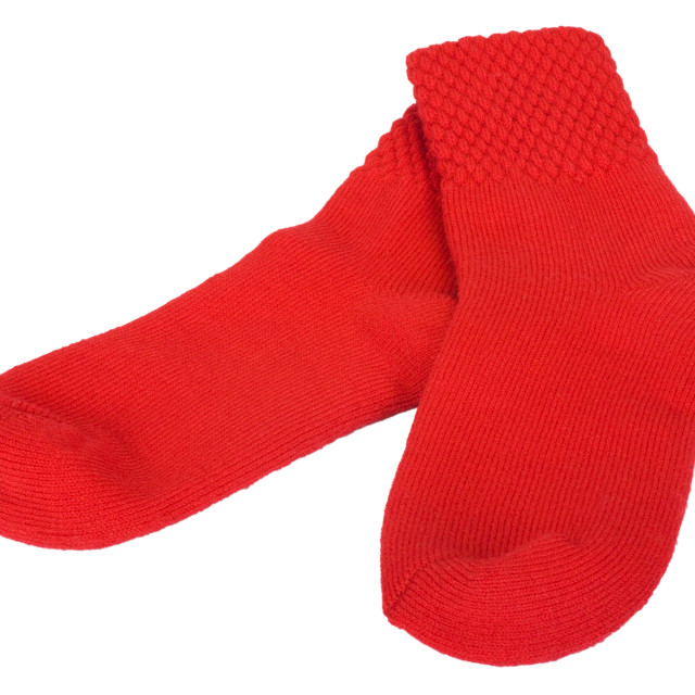 """""""Close-up of a pair of red socks"""" stock image"""
