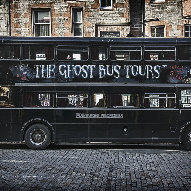 """Ghost Bus Tours"" stock image"