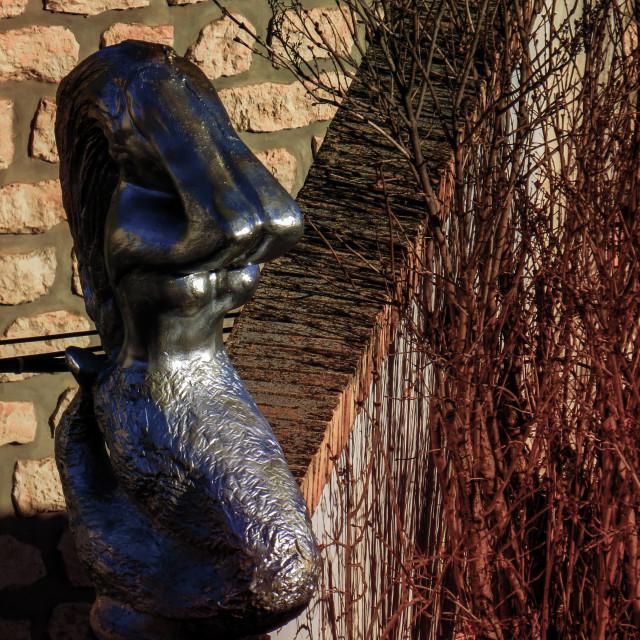 """Fuendetodos Mermaid Statue in Aragon, Spain"" stock image"