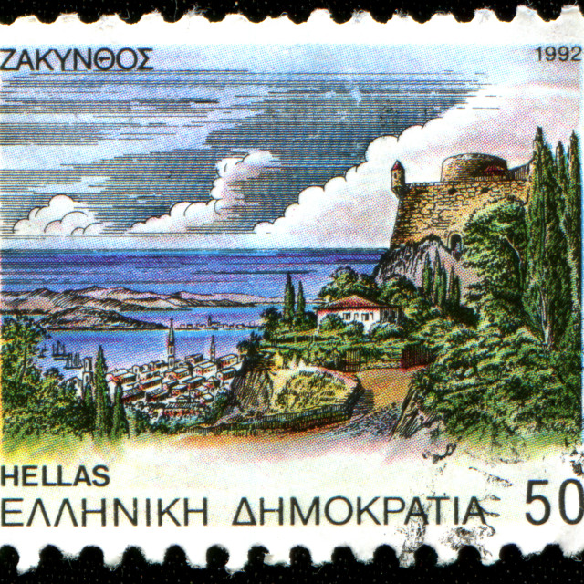 """Zakinthos view"" stock image"