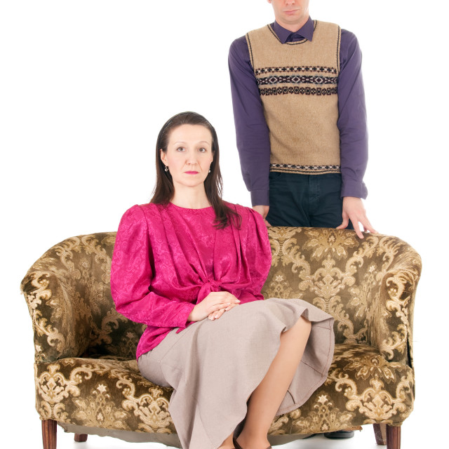 """""""kitsch couple problems"""" stock image"""