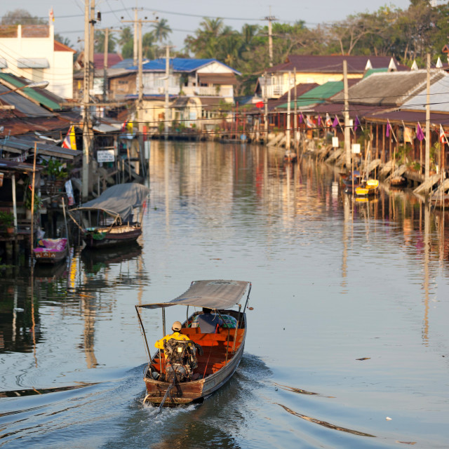 """amphawa floating market in thailand"" stock image"