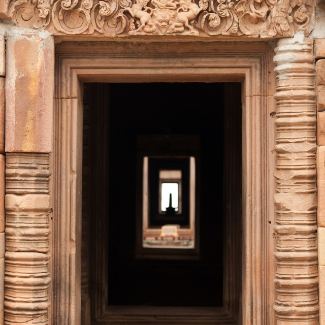 """khmer temple entrance"" stock image"