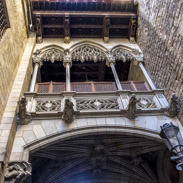 """Calle del Obispo, Barcelona"" stock image"