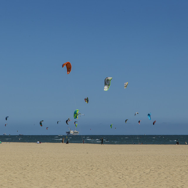 """""""Long Beach Wind Surfing"""" stock image"""
