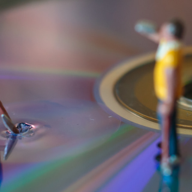 """""""Digging The Music Close Up"""" stock image"""