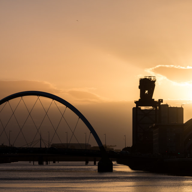 """Sunset on the Clyde"" stock image"