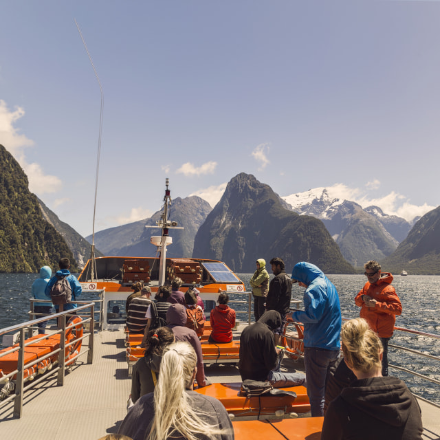 """The scenic Milford Sound from the cruise ..."" stock image"