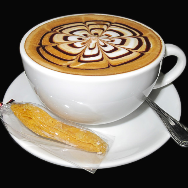 """""""My perfect cappuccino"""" stock image"""