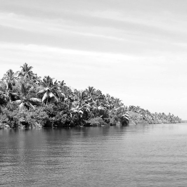 """Kerala in black and white"" stock image"