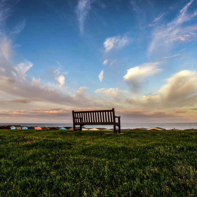 """""""Eye In The Sky Frinton Seafront"""" stock image"""