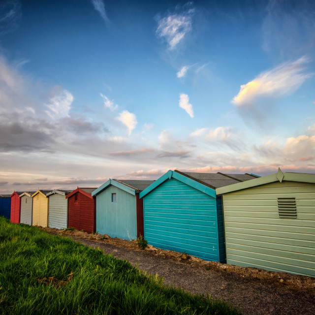 """""""Spring Sky At Frinton Seafront"""" stock image"""