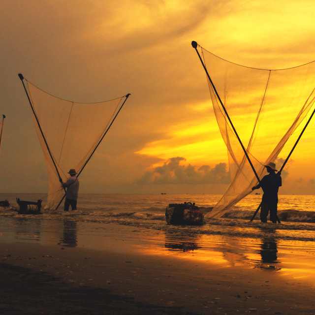 """dawn on the sea"" stock image"