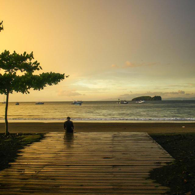 """Playa del Coco reflections"" stock image"