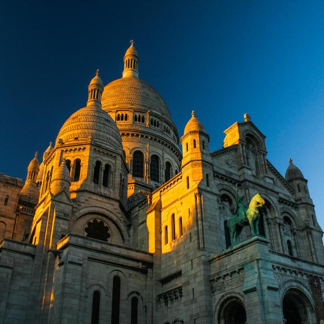 """The Basilica of Sacre Coeur, Paris"" stock image"