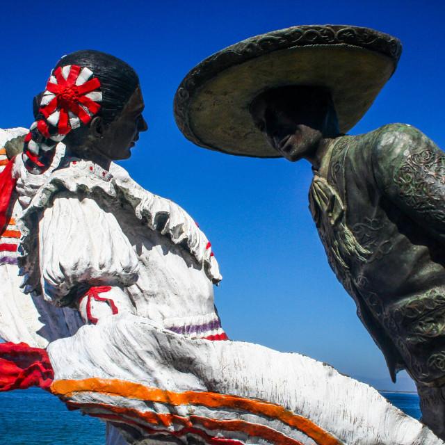 """Dancing statue - Puerto Vallarta"" stock image"