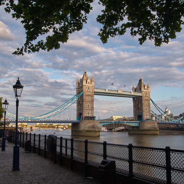 """""""A Walk by the Thames"""" stock image"""