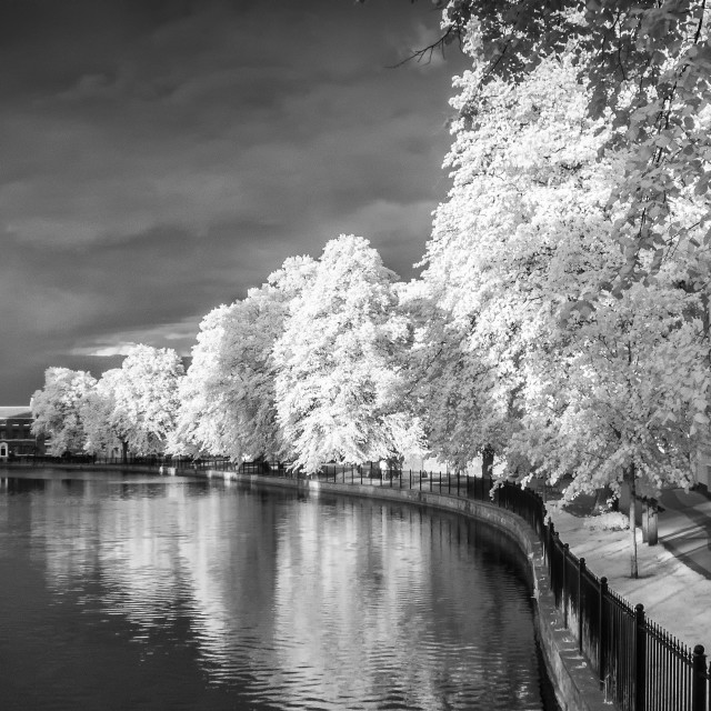 """Minster Pool Infrared"" stock image"