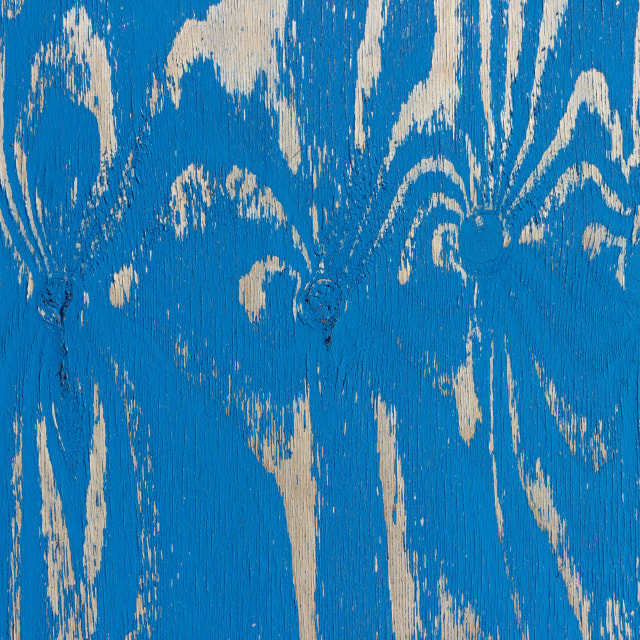 """""""Closeup view of wood with peeling paint"""" stock image"""
