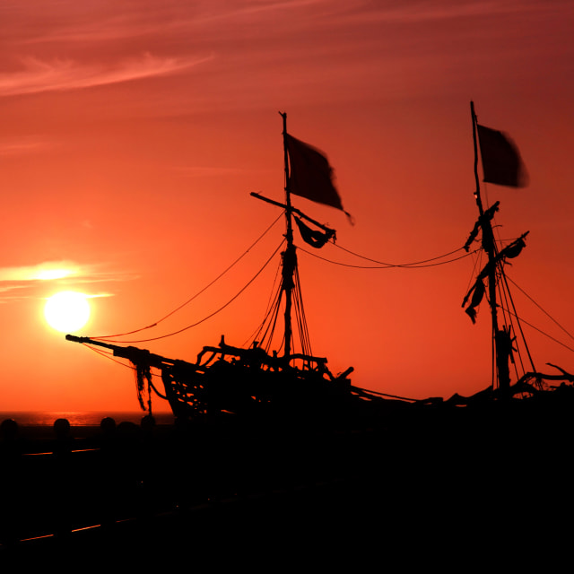 """Pirate Sunset"" stock image"
